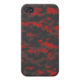 Digital Red Tiger Camo iPhone Case