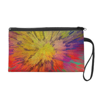 Digital Reefs: coral colors Wristlet Purse