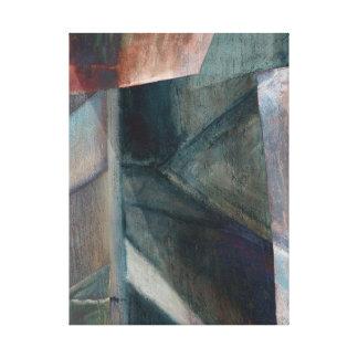 Digital Rework of Bridge Painting Canvas Print