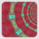 Digital Rings of Color Red Green Stickers