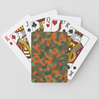 Digital Safety Camo Playing Cards
