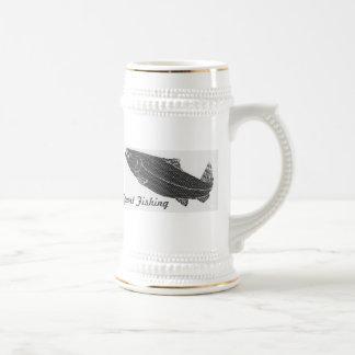 Digital salmon fishing mug