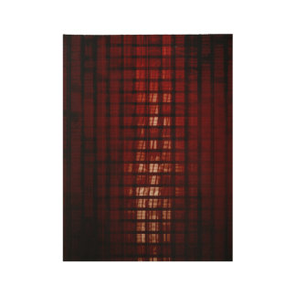 Digital Security and Network Firewall Surveillance Wood Poster