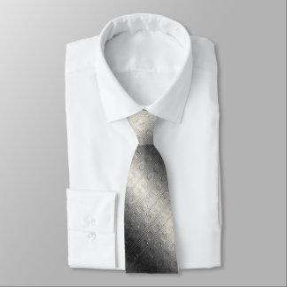 Digital Silver and Cream Roman Ionic Column Design Neck Tie