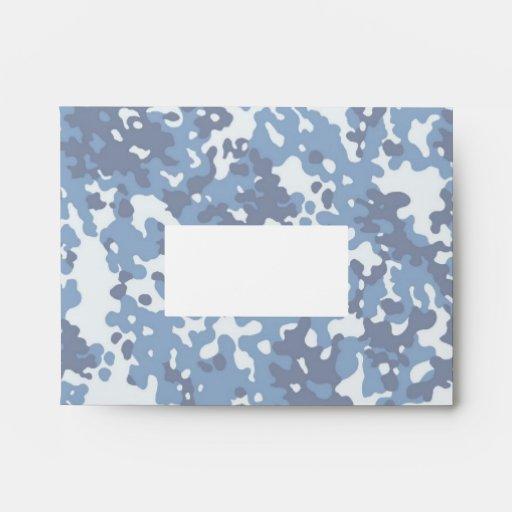 Digital Sky Blue Camouflage (Lightened) Envelope