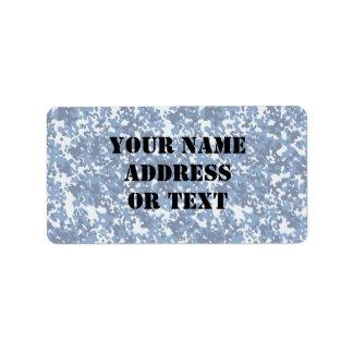 Digital Sky Blue Camouflage (Lightened) Address Label