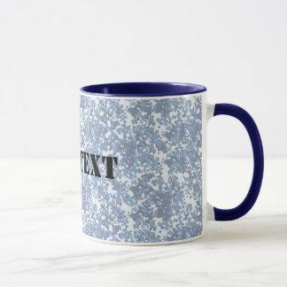 Digital Sky Blue Camouflage (Lightened) Mug