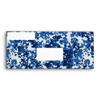 Digital Sky Blue Camouflage - with White Envelope