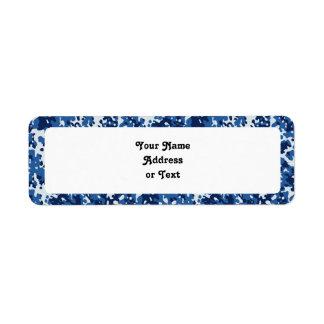 Digital Sky Blue Camouflage - with White Return Address Label