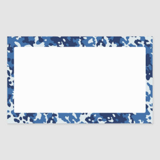 Digital Sky Blue Camouflage - with White Rectangular Sticker