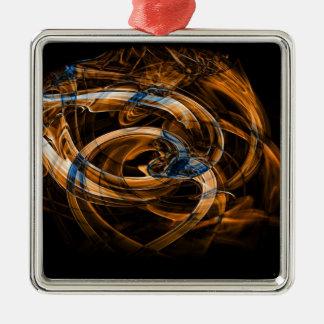 Digital Smoke Art (48).jpg Metal Ornament