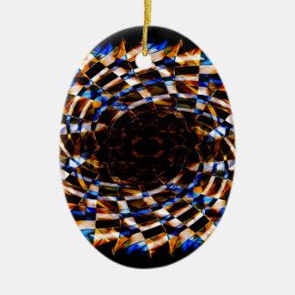 Digital Smoke Art (6).jpg Ceramic Ornament