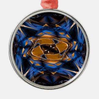Digital Smoke Art Metal Ornament