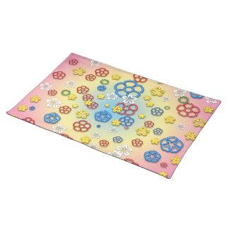 Digital springtime place mats