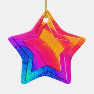 Digital Star Ceramic Ornament
