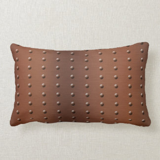 Digital Studded Brushed Copper Metal Pattern Lumbar Pillow