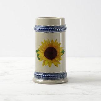 Digital Sunflower Beer Stein