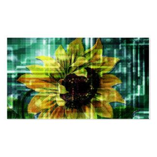 Digital Sunflower Business Card Template