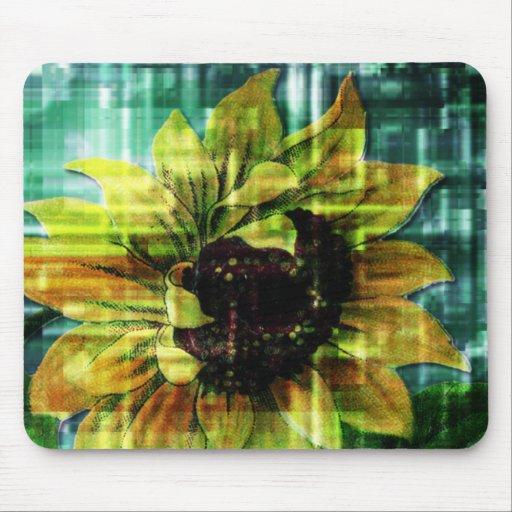 Digital Sunflower Mouse Pad