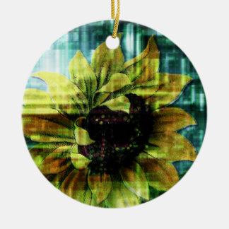 Digital Sunflower Ornaments