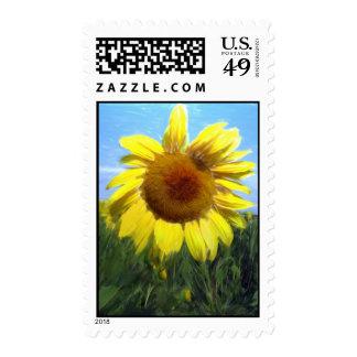Digital Sunflower Postage