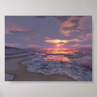 Digital Sunset Poster