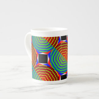 Digital Sunset Tea Cup