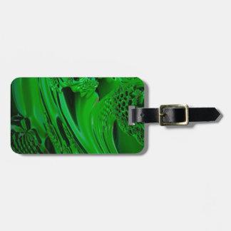 digital surprise fluid green luggage tag