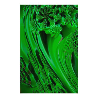 digital surprise fluid green customized stationery