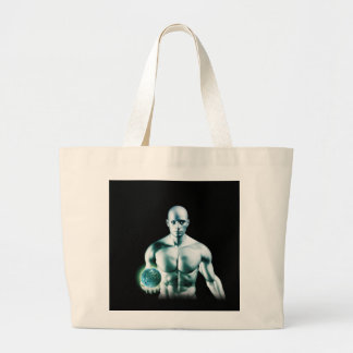 Digital Surveillance and Ethics of Online Privacy Large Tote Bag
