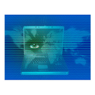 Digital surveillance postcard