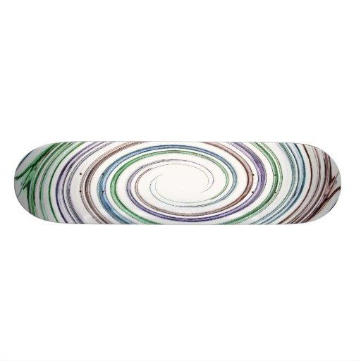 Digital Swirl Skateboard