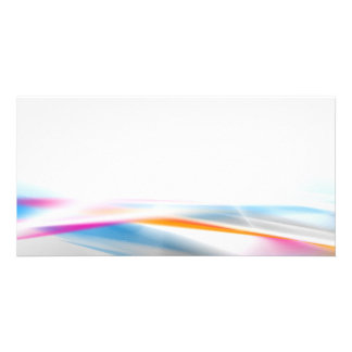 DIGITAL SWIRLS COLOURFUL COLORS GREY GRAY WHITE OR PHOTO GREETING CARD