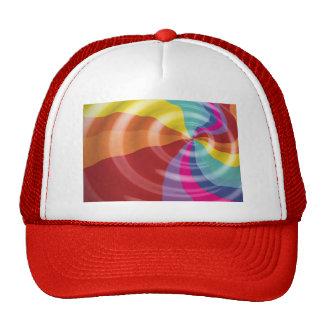 DIGITAL SWIRLS RAINBOW COLORFUL VECTOR FUN PARTY S TRUCKER HATS