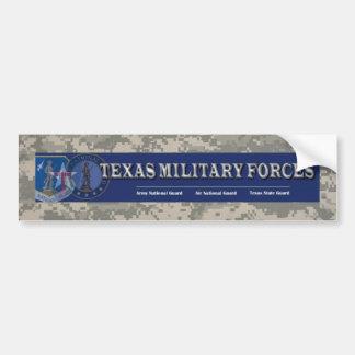 digital, texas military forces bumper sticker