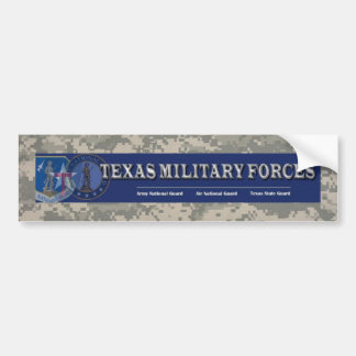 digital, texas military forces car bumper sticker