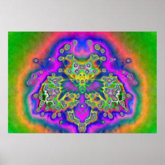 Digital Tie Dye Poster