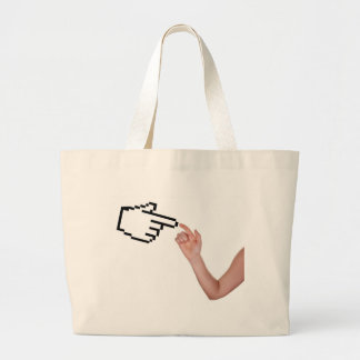 Digital touches large tote bag