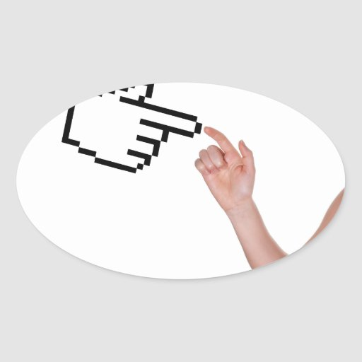 Digital touches oval sticker