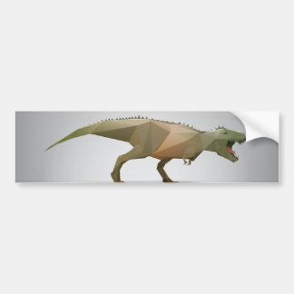 Digital Tyrannosaurus Rex Polygonal Abstract Art Car Bumper Sticker