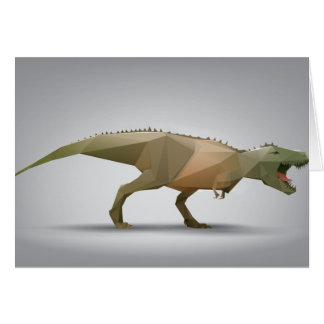 Digital Tyrannosaurus Rex Polygonal Abstract Art Card