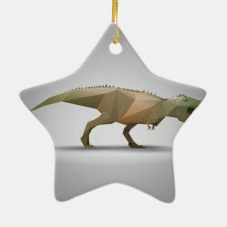 Digital Tyrannosaurus Rex Polygonal Abstract Art Ceramic Ornament