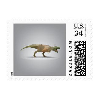 Digital Tyrannosaurus Rex Polygonal Abstract Art Postage