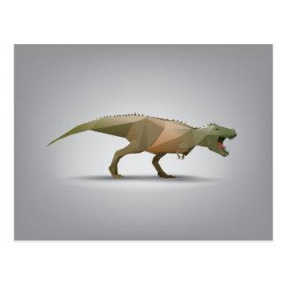 Digital Tyrannosaurus Rex Polygonal Abstract Art Postcard