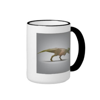 Digital Tyrannosaurus Rex Polygonal Abstract Art Ringer Mug