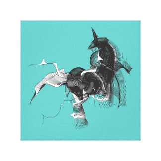 Digital Unicorn Canvas Print