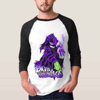 Digital Warlocks Purple Warlock - Basic 3/4 Sleeve Tee Shirt