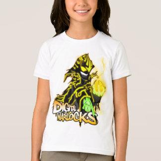 Digital Warlocks Yellow Warlock - Girls Ringer T-S T-Shirt