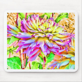 Digital Watercolor Dahlia Gift Mouse Pad