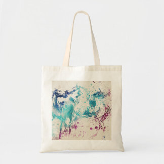 Digital Watercolor Painting Of Arabian Horses Tote Bag